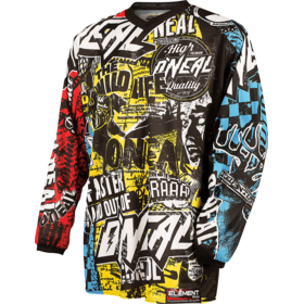 O'Neal Element Maillot de cyclisme Adolescents, wild-multi